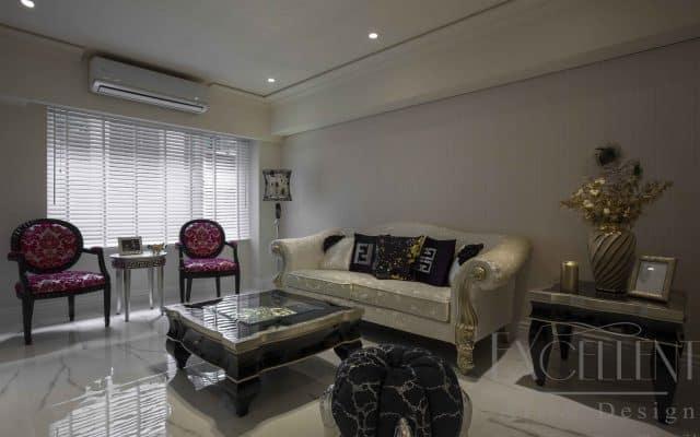 為解決長形建築本身僅前後採光的光源限制,故整體透過清淺的顏色與調性,有效的連貫前後採光,讓室內霎時明亮而通透,空間感倍增。